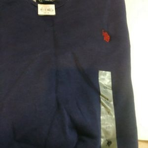 NWT Polo Mens Big and Tall Sweatshirt Navy LT